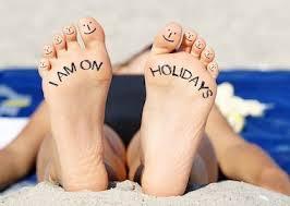 ferielukket - fødder